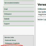 Screenshot Kundenbereich DSVGO Formular