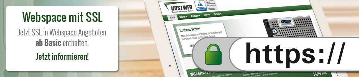 Hostweb SSL Slidermotiv