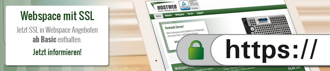 Hostweb SSL Slidermotiv